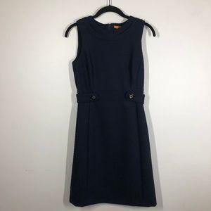 Tory Burch Navy Sleeveless Sheath Dress